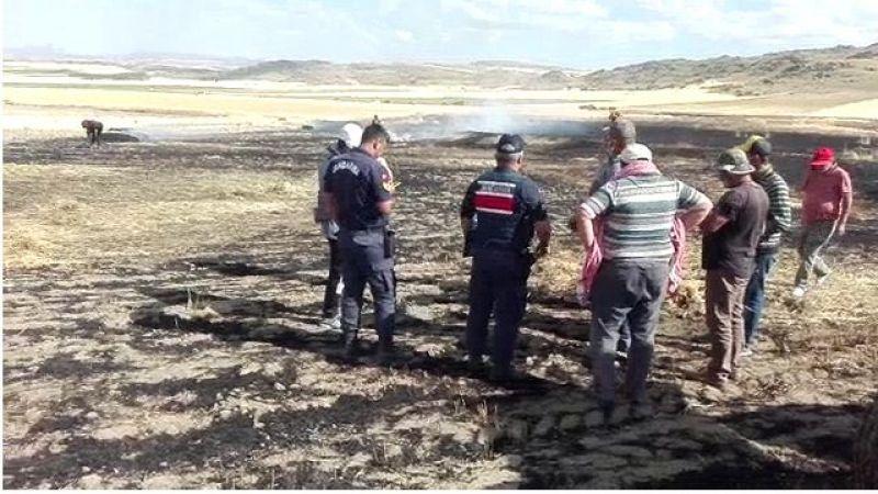 Yakatarla Köyün'de arazi yangını çıktı