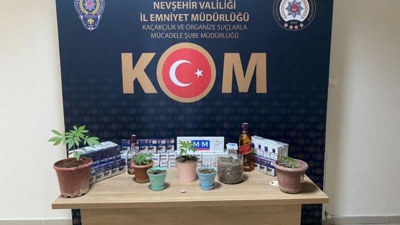 Nevşehir'de kaçak alkol ve sigara operasyonu