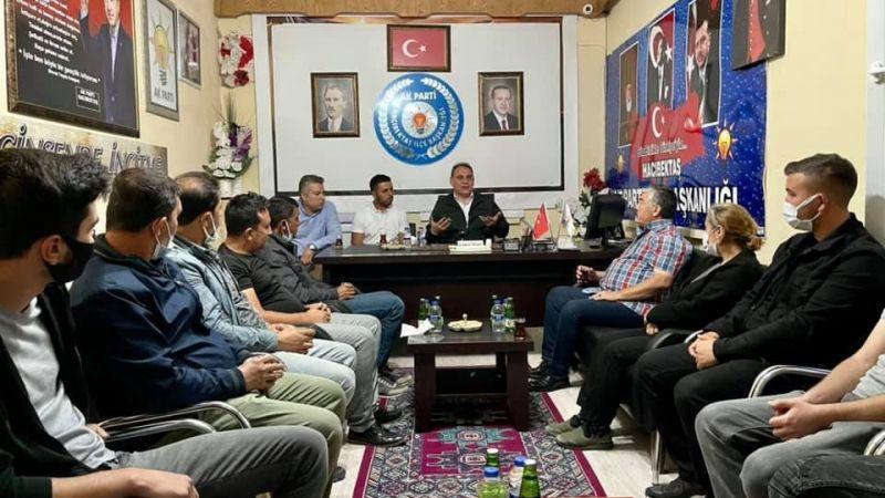 Vekil Menekşe, Hacıbektaş'ta partililerle buluştu