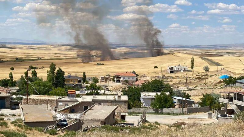 60 dekar tarım arazisi yandı
