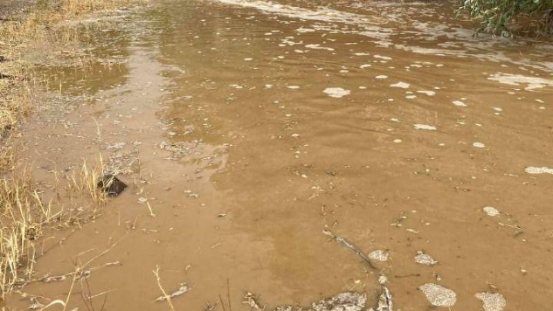 Karburna'da yağış hayatı felç etti