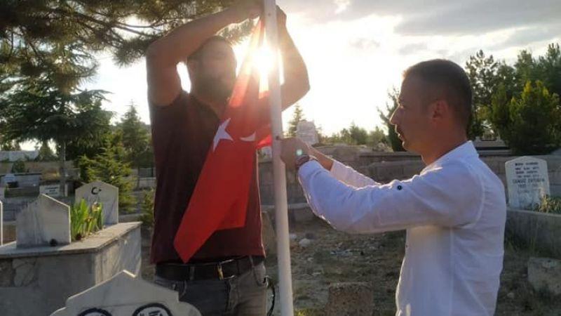 Ürgüp Ülkü Ocakları Ülkücü Şehit mezarını ziyaret etti
