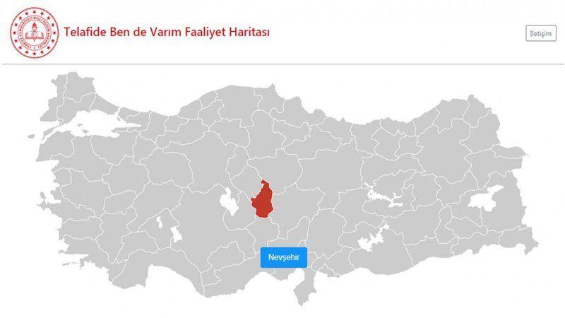 Telafide Ben De Varım faaliyet haritası yayınlandı