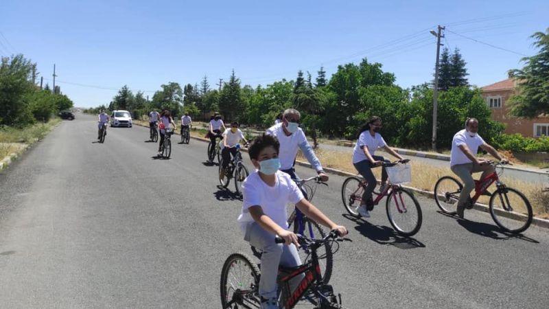 Hacıbektaş'ta bisiklet sürme etkinliği yapıldı