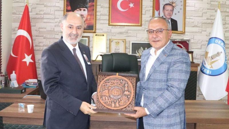 Bakan yardımcısı, Başkan Aksoy ile görüştü
