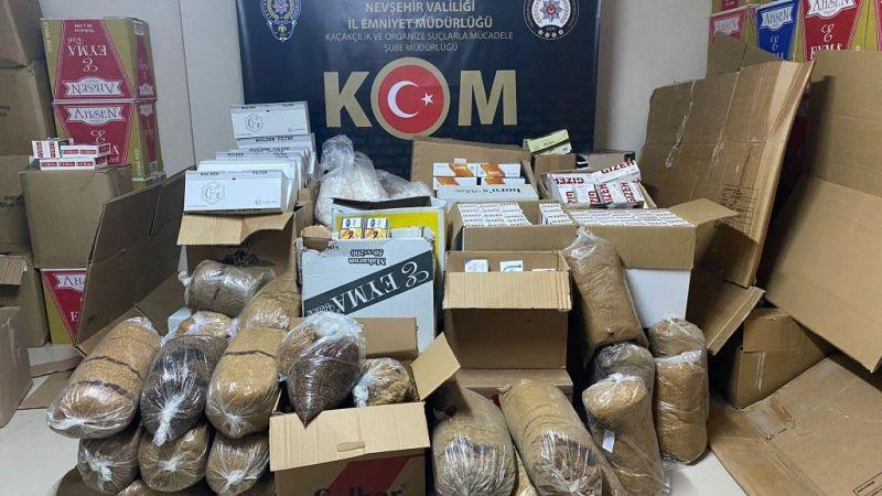 Gülşehir'de kaçak ürünlere el konuldu