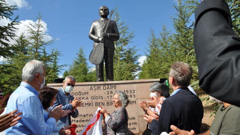 Aşık Daimi Anıtı açılışı yapıldı
