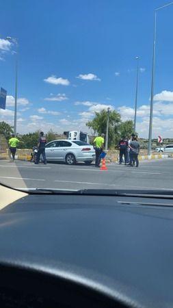 Uçhisar kavşağında kaza: 2 yaralı
