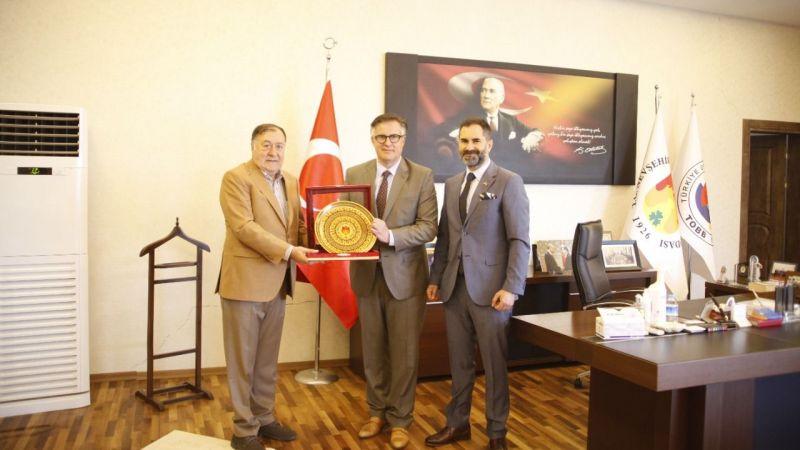 Parmaksız, Romanya'nın Ankara Büyükelçisi Tinca'yı ağırladı