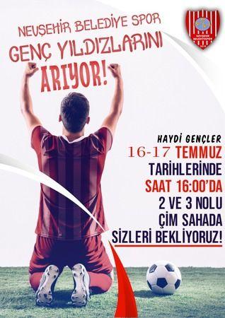 Nevşehir Belediyespor futbolcu seçecek