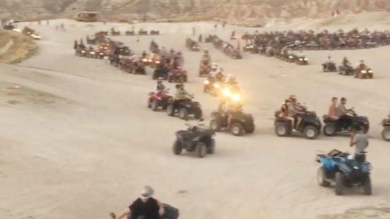 Kapadokya'da ATV istilası…