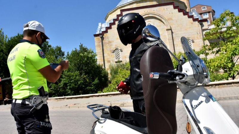 Nevşehir'de 20 motosiklete idari işlem