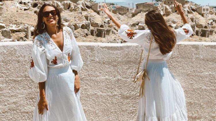 Ünlü oyuncudan Kapadokya'da yaşayan annesine ziyaret