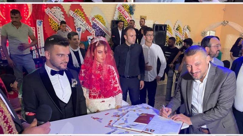 Başkan Bağcı'nın oğlu dünya evine girdi