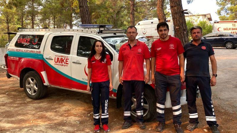 Nevşehir UMKE yangın bölgesinde