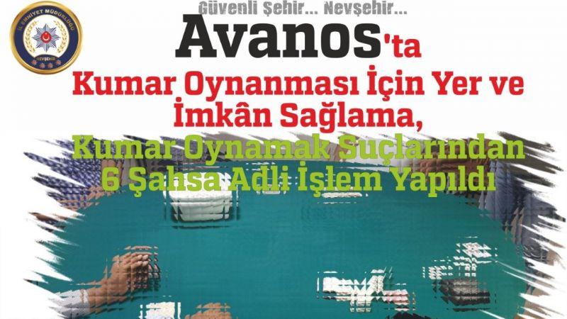 Avanos'ta kumar baskını