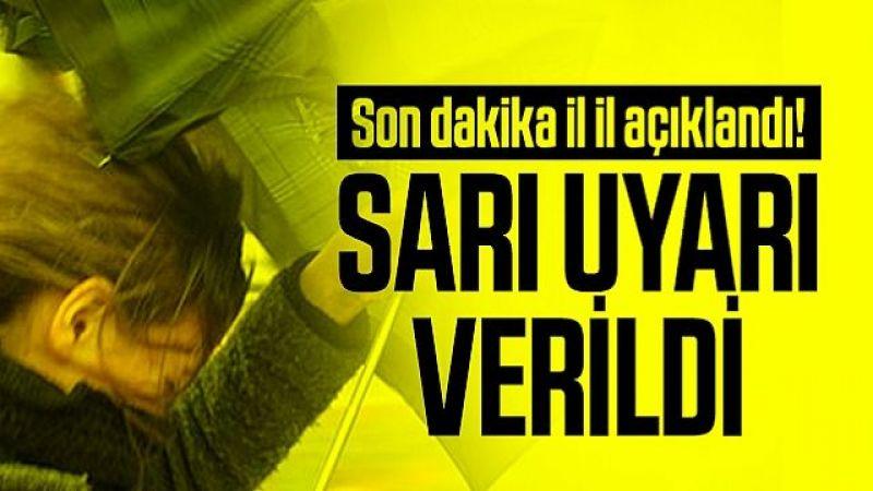 Nevşehir için sarı uyarı!