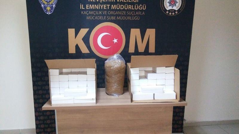 Nevşehir'de 20 bin kaçak makaron yakalandı