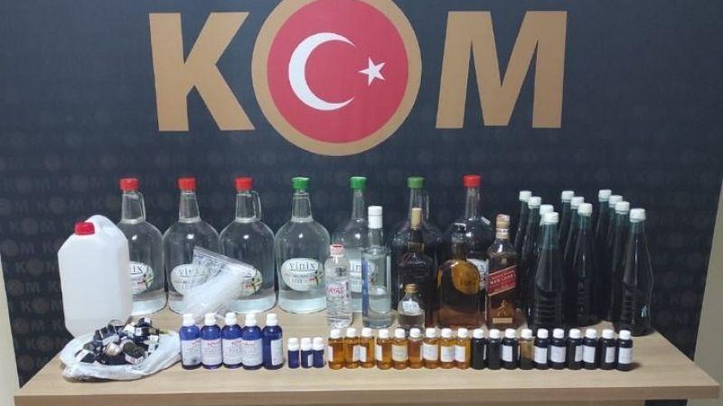 350 Evler'de kaçak alkol yapıldığı tespit edildi