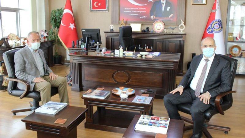 Başkan Salaş, Emniyet Müdürü Artunay ile görüştü