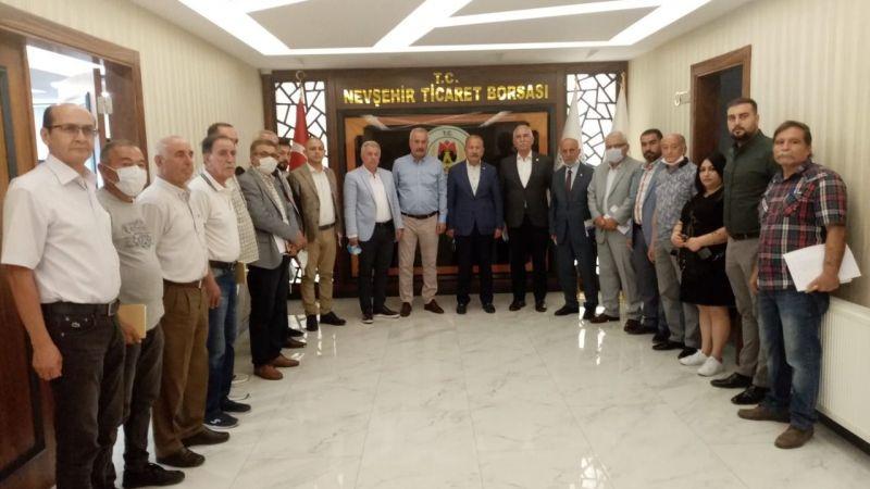CHP heyetinden Nevşehir Ticaret Borsasına ziyaret