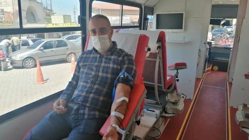 Kızılay, kan bağış aracı Ortahisar'da
