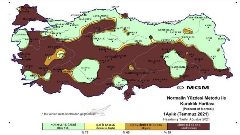 Nevşehir için endişelendiren harita!