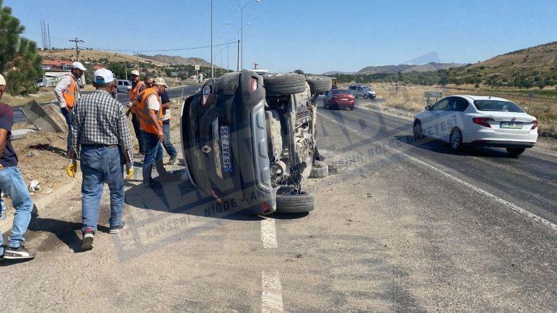 Acıgöl yolunda kaza; 1 ağır 4 yaralı