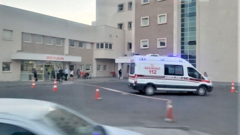Covid-19 polikliniğine ambulanslar peş peşe geliyor!