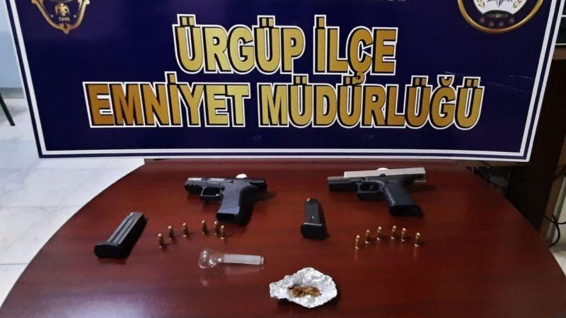 Ürgüp'te silah ve uyuşturucu ele geçirildi