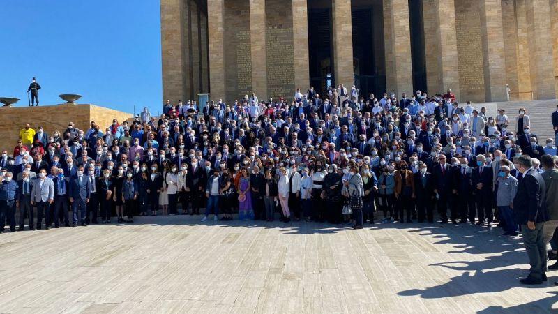 Sarıaslan Anıtkabir'deki törenlere katıldı