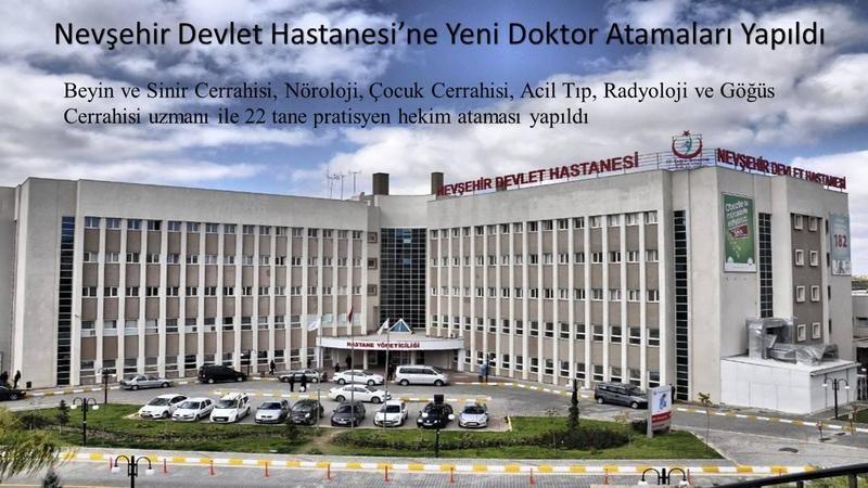 Nevşehir'e 22 yeni doktor