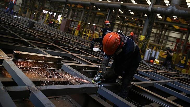 Üretim yıllık yüzde 8,7 arttı