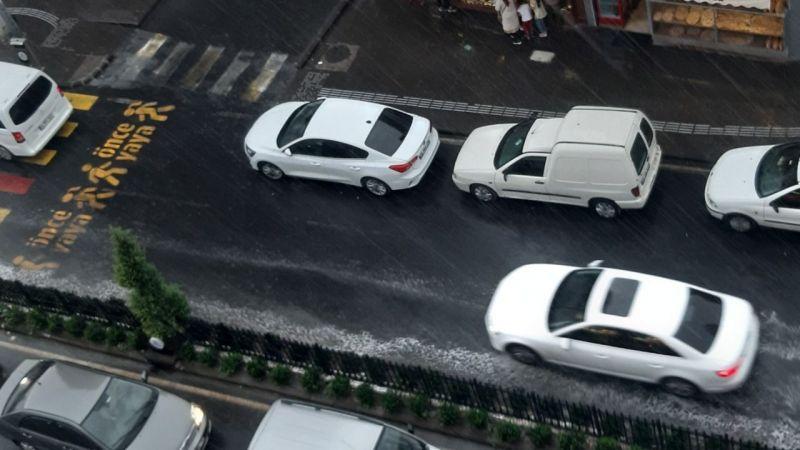 Nevşehir'e yağmur fena bastırdı