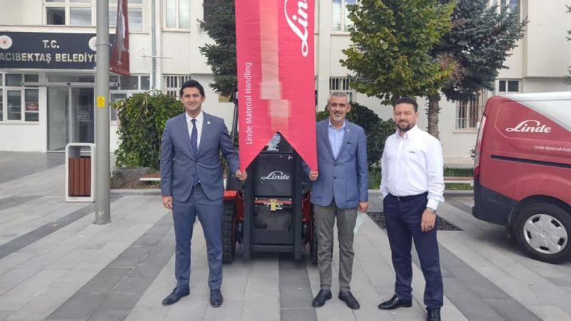 Hacıbektaş Belediyesi'ne 300 bin TL'lik hibe araç