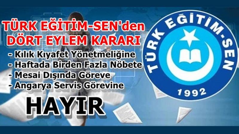 Türk Eğitim Sen eylem kararı aldı