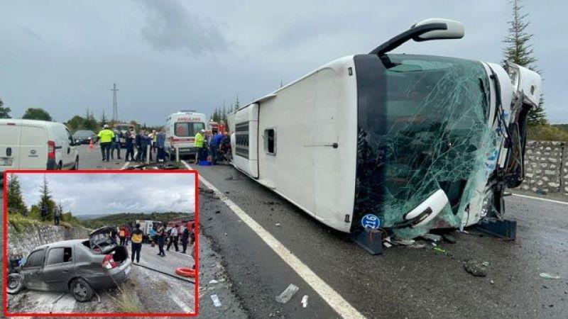 Tur otobüsü kaza yaptı: 3 ölü