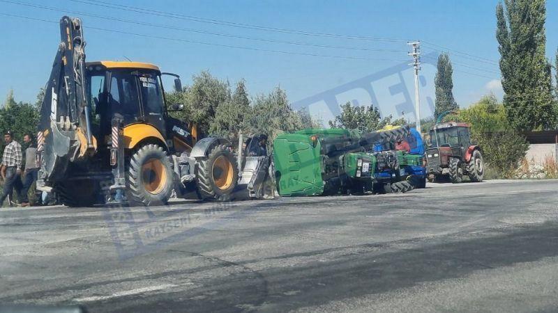 Traktör ile otomobil çarpıştı: 1 yaralı
