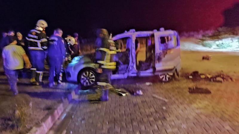 TOKİ'de araç yandı
