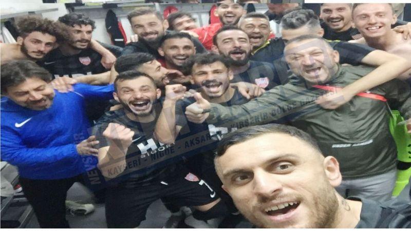 Nevşehir Belediyespor'dan galibiyet selfisi