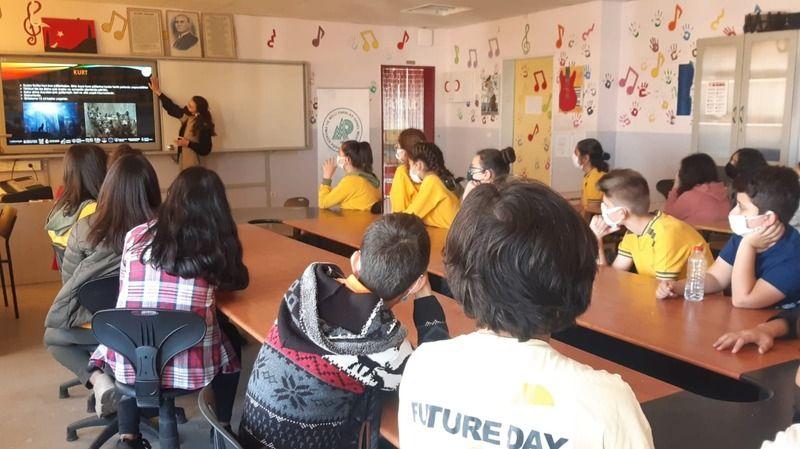 Yavuz Sultan Selim Han Ortaokulun'da sunum yapıldı