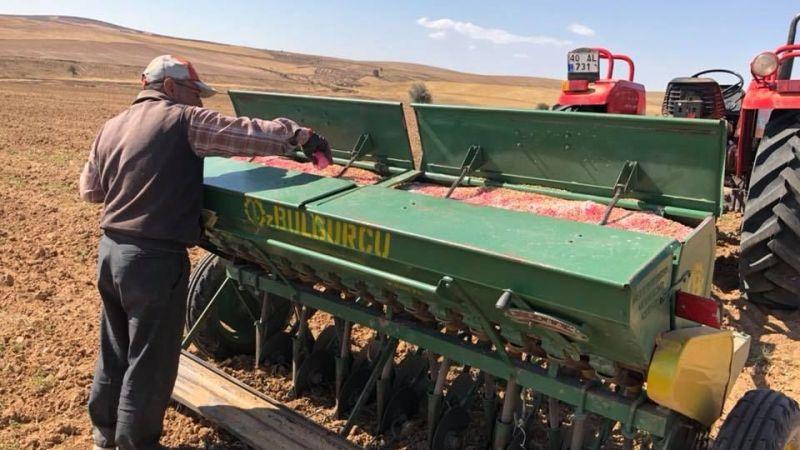 Nevşehir'de tohum ekimi başladı
