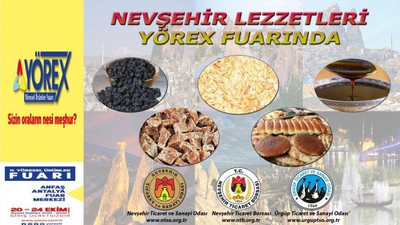 Nevşehir'in yöresel ürünleri YÖREX Fuarında tanıtılacak