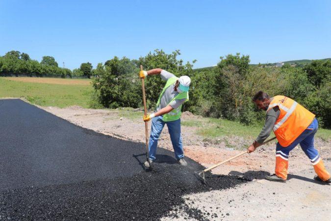İlimtepe'ye bin 400 ton asfalt