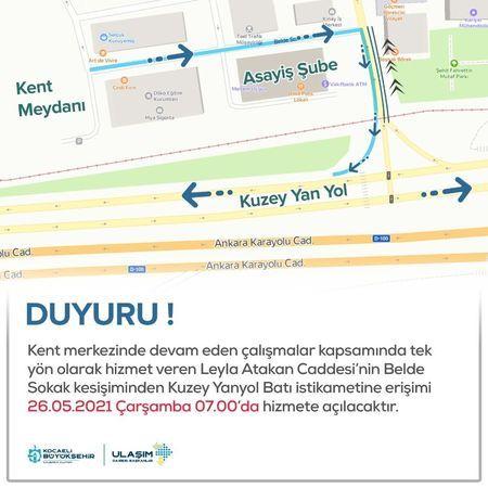 Leyla Atakan Caddesi'nde yeni düzenleme