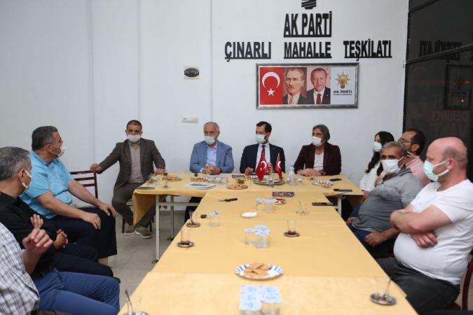 Baskan Aygün Çınarlı teşkilatına konuk oldu