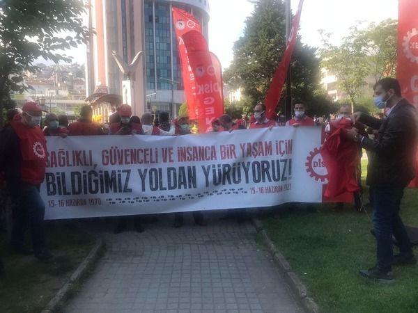 51 DİSK Üyesi işçiyle beraber yarın İstanbul'a yürüyecek