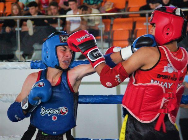 Kocaeli'de Muay Thai mücadelesinden nefes kesen sahneler