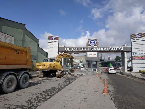 Gebze Oto Sanayi'nde üstyapı çalışmaları