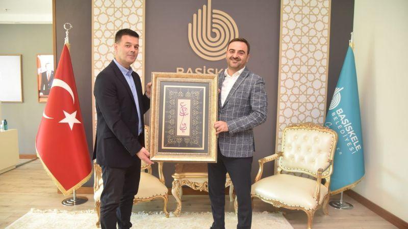 Başkan Özlü Bosnalı meslektaşını ağırladı